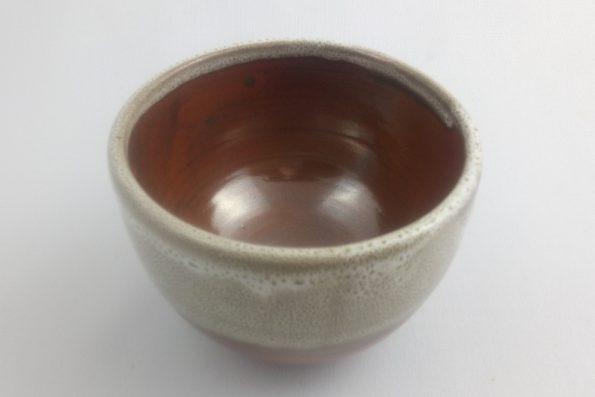 bol a thé blanc et rouge noel oterrefeu poterie palaiseau