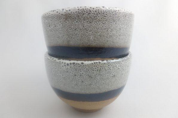 bols à thé noir et blanc terre apparente oterrefeu poterie palaiseau