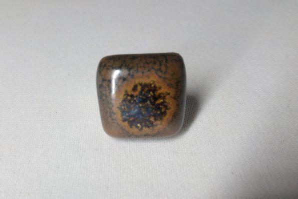 Bague carré  brun céramique