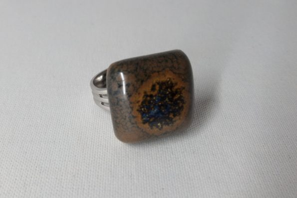 bague carre marron poterie palaiseau