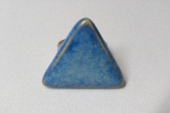 bague triangle bleue poterie palaiseau