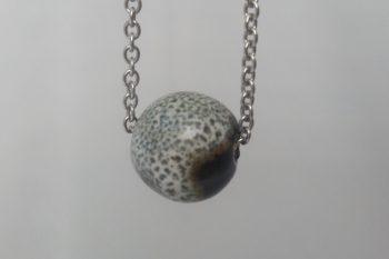 collier perle marron poterie palaiseau