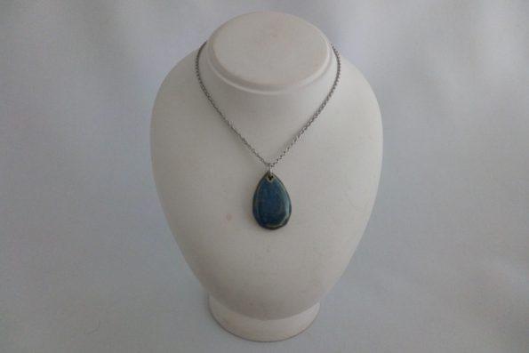 Collier diamant bleu en céramique