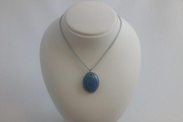 Collier pierre bleue en céramique