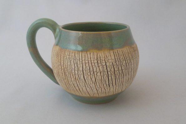 Tasse «terre du désert» verte en céramique