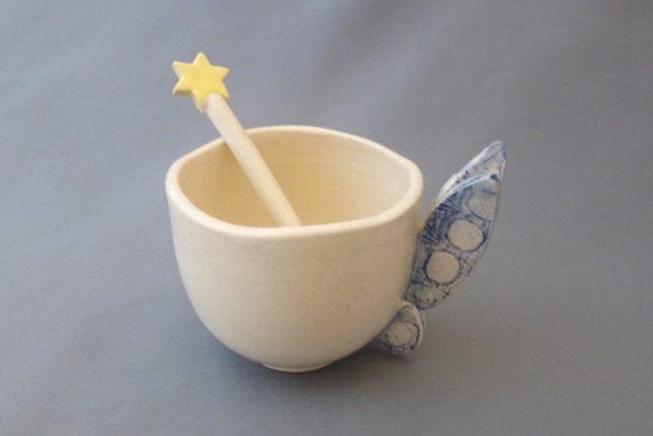 Tasse Fée dentelle bleue