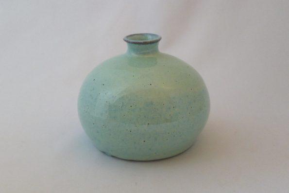 Vase petite bouteille boule lagon en céramique