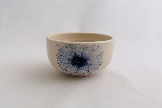 Bol à thé mocha tea bleu en céramique